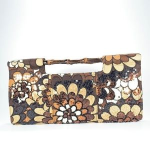 The Limited Sequinned Floral Fall Clutch